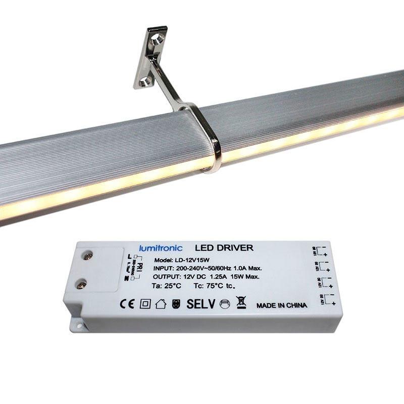 Locker kit barra con luz led de 110cm para armarios for Barra de luz led