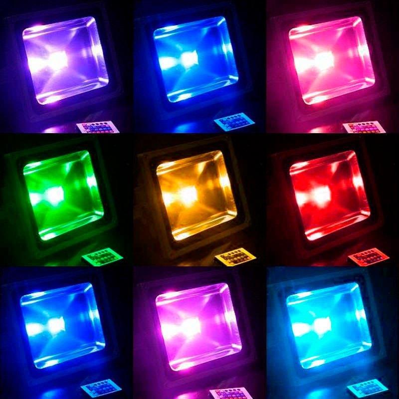 Proyector led slim rgb 30w rgb proyectores led slim for Precios iluminacion exterior