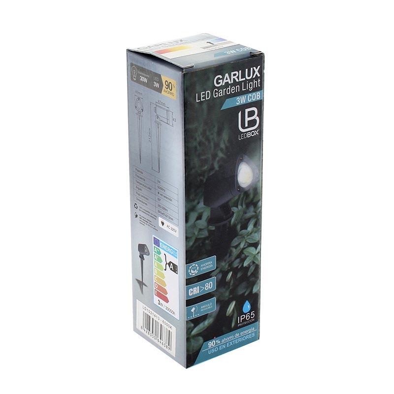 Foco de jard n garlux 10w blanco c lido iluminaci n for Focos de iluminacion exterior