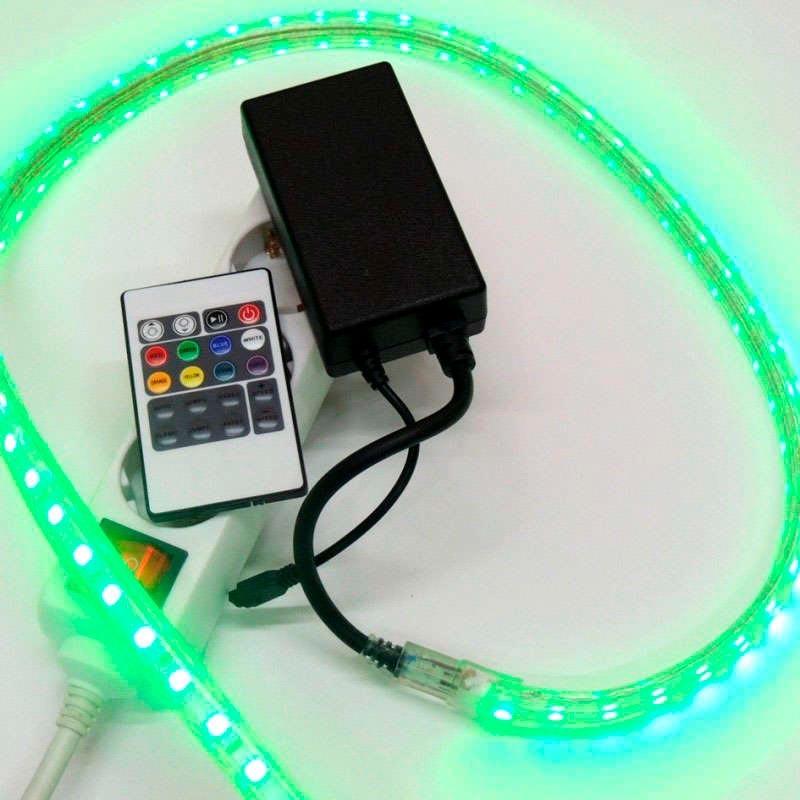 Controlador ir tira led 220v rgb 750w 12mm tiras 220v - Precio tira led ...