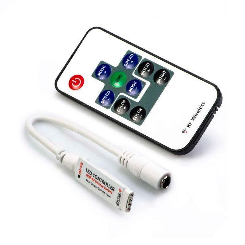 Controlador rf mini tira led rgb mando tiras led - Precio tira led ...