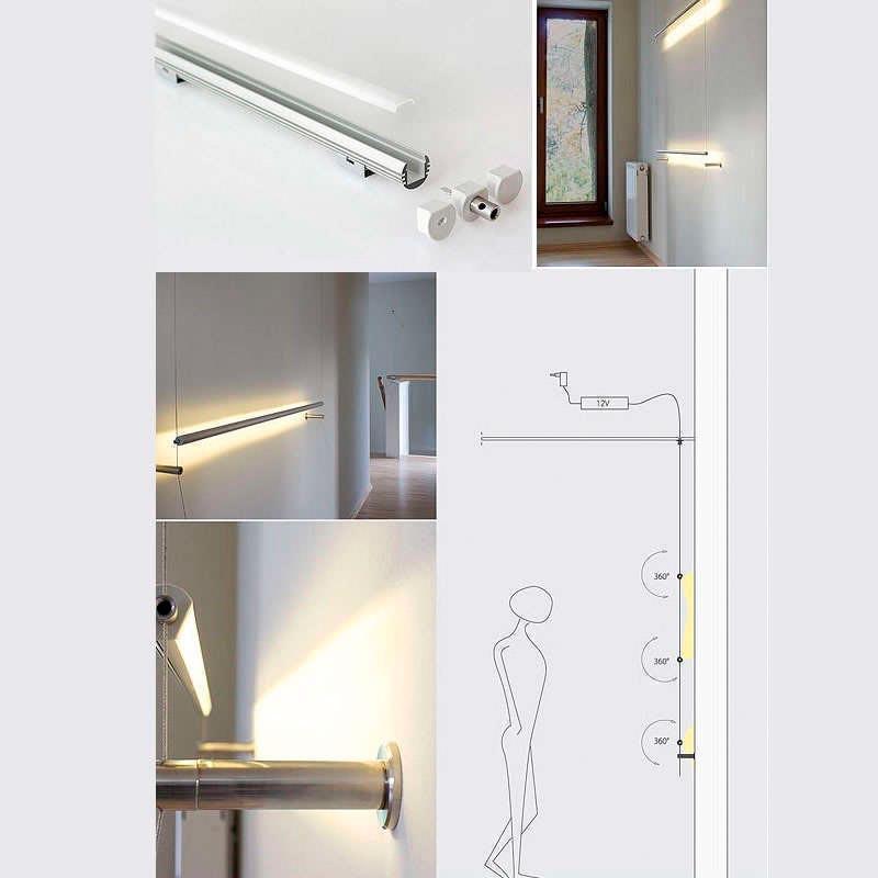Perfil aluminio round para tiras led 2 metros perfiles - Precios tiras led ...