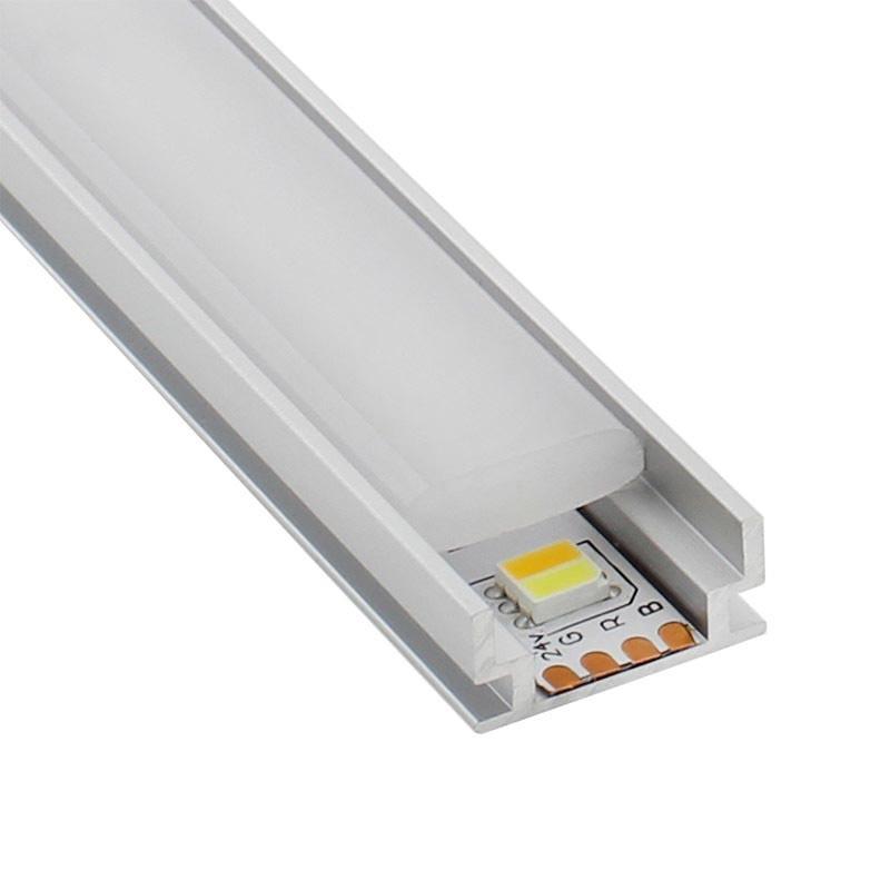 Perfil aluminio hardy para tiras led 2 metros perfiles - Precios tiras led ...