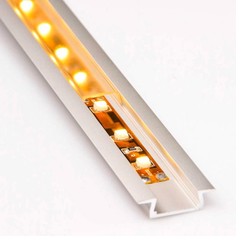 Kit perfil aluminio kobe para tiras led 1 metro - Precios tiras led ...