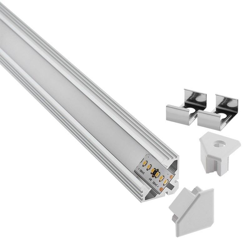 Kit perfil aluminio venco para tiras led 2 metros - Precios tiras led ...