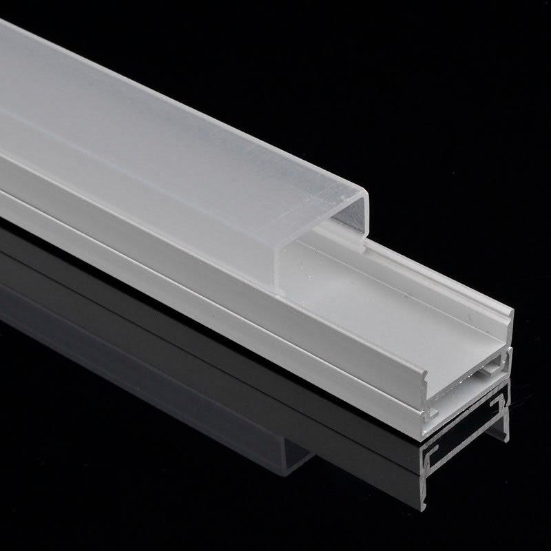 Perfil aluminio alkal para tiras led 1 metro perfiles - Precio perfiles de aluminio ...