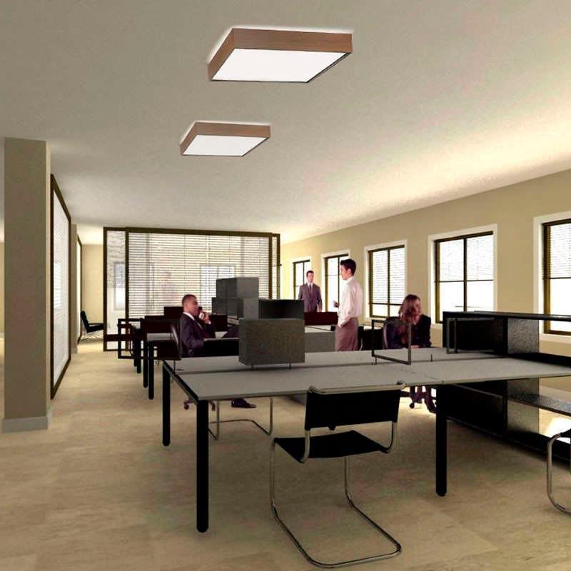 Boxled aliso panel 60x60cm panel led superficie for Paneles led de superficie