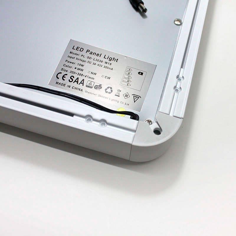 Panel led de superficie 50w 60x60cm blanco fr o panel for Paneles led de superficie